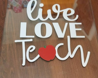 Live Love Learn Clipboard for Teacher's Gift! End of Year Gift!
