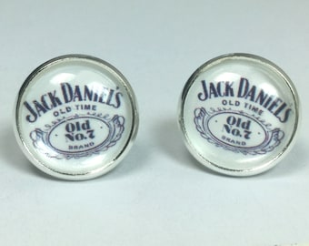 Jack Daniels Whiskey Earrings Bartender Earrings Bartender Jewelry