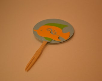 Under The Sea - Fish Cupcake Toppers-/Fish/Under the Sea/Cupcake Toppers