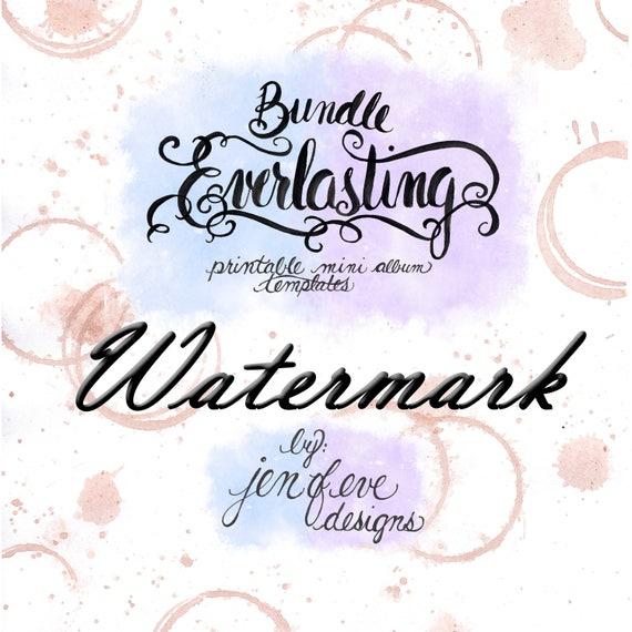 Everlasting & Mini Everlasting Printable Mini album Template Bundle in Watermark and PLAIN