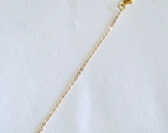 "FINE 4"" Gold necklace extension connector lobster clasp finish bead A2"