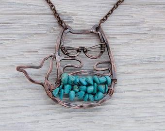 Incredible pendant - incredible necklace - something incredible - mermaid cat - Cat Mermaid - Purrmaid - mercat - catfish - cat fish mermaid