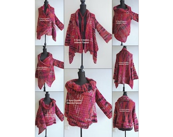 PATR1106 Xyra Crochet-pattern - Vest-cardigan - upside down - different ways to wear - (Dutch & English-US)
