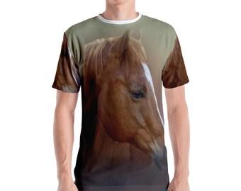 Portrait of a Horse Men's All Over Print T-shirt
