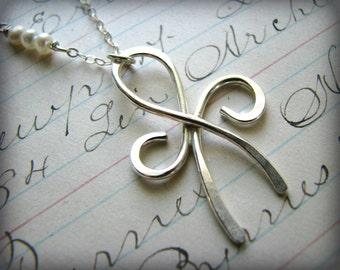 Friendship Necklace - Large Size Eternity Infinity Sterling Silver - Graduation Retirement Birthday Reunion Best Friends