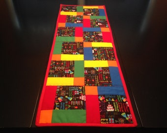 Quilted Table Runner Bright