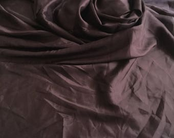 Eggplant Purple Silk Habotai Fabric