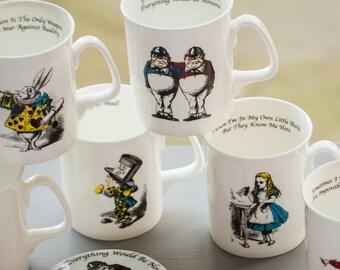 Set of 6 Simply Alice Mugs