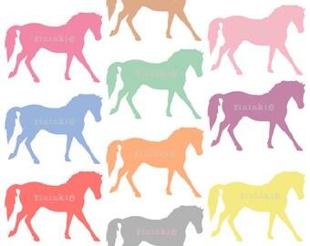 Poney de scrapbooking de Clip Art - Digital clipart - cheval clipart - Clipart de Pastel - - Téléchargement instantané - usage Commercial - PNG / JPG