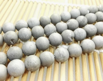 3  Full Strands 8mm 10mm  Druzy Agate Beads , Agate Beads , Geode Beads , Druzy Beads , Findings , Craft Supplies & Tools , Wholesale beads