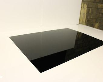 1.5mm Nitto Jushi CLAREX Acrylic Perspex Precision thin sheet Black N-885, B5 size 250x176mm
