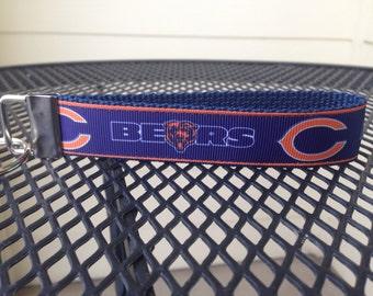 Chicago Bears Inspired Keychain Wristlet