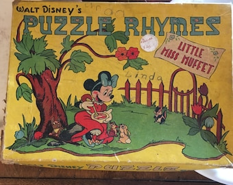 Vintage Walt Disney Children's Puzzle Little Miss Muffet