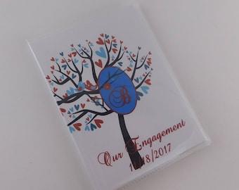 Wedding Photo Album Personalized Photo Album Monogrammed Bridal Shower Gift wedding gift engagement album Bird tree 4x6 or 5x7 picture 031