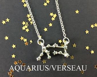 Zodiac Necklace - Astrology Necklace - Aquarius Necklace - Constellation Necklace - Aquarius Jewelry - Birthday Gift - Zodiac Symbol - BFF
