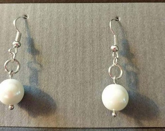 Large, Medium, Small pearl with sivler fishhook