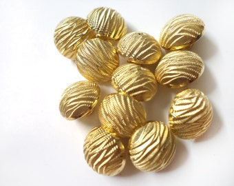 20 PCS Sew On Buttons Covered in Gold with Loops For Sewing Fashion Jewelry and Accessories.