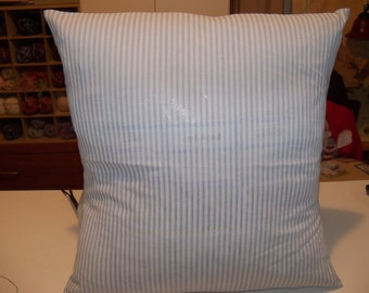 Pair of Light Blue Striped Pillow Covers