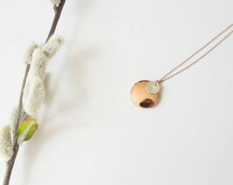 Rose Gold Locket - Initial Locket - Initial Necklace - Bridesmaid Locket - Bridesmaid Locket - Tiny Locket Necklace - Silver Locket - Gold