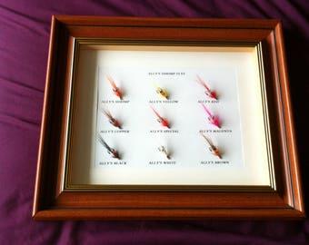 Framed Fishing flies