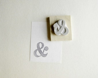 Little Ampersand Hand Carved Rubber Stamp