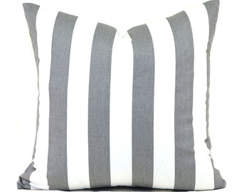 Pillow Covers ANY SIZE Pillow Cover Grey Pillow Cover Premier Prints Canopy Storm Grey