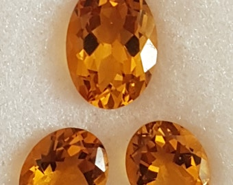 3 Pieces Of CITRINE OVAL FACETTED Conclave Cut