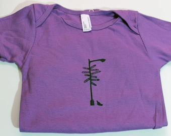 NYC Lamp Post Onesie - Baby One Piece - Organic Made in USA