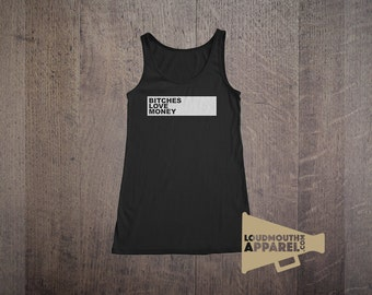 Bithches Love Money Womens Vest Tank Top