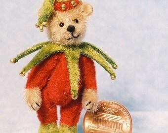HALF PRICE - Little Elf Bear - Miniature Teddy Bear Kit - Pattern - by Emily Farmer