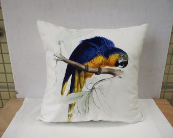 Decorative Parrot Velvet pillow cover throw pillow cases Sitting bird pillow cover art pillow double sides design