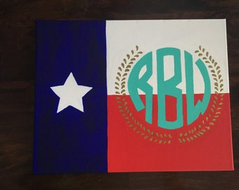 Texas Flag Monogram