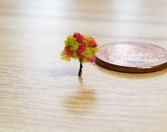 1mini micro miniatures trees under the dome project or diorama lime green