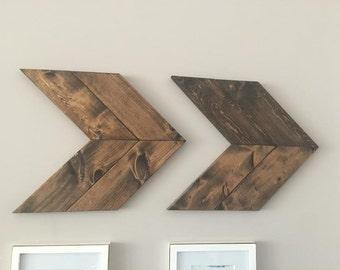 Flèches Chevron, décoration murale, flèche Decor, Decor bois, flèches en bois, décor rustique, Chevron Wall Art, decoration murale Arrow, flèches en bois, flèche