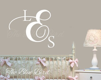 Monogram decal. Wall Decal Nursery. Name decals. children wall decal. children name decal