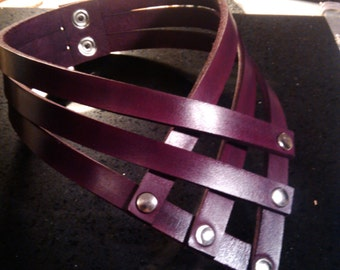 leather choker/necklace