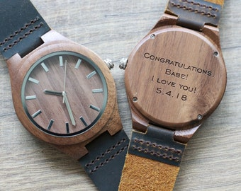 Wood Watch, 1st Fathers day gift, Wooden Watch, Groomsmen Watches, 5th Anniversary gifts, Graduation watch, Boyfriend gifts, Wood Watch