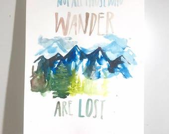 Wanderlust print 11x14 in