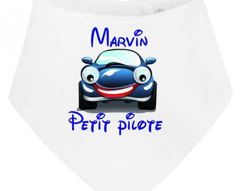 Little baby bib bandana pilot personalized with name
