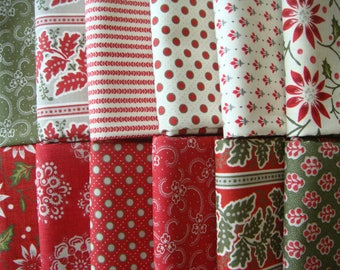 Petites Maisons - Fabric Bundle - French General Fabric from Moda