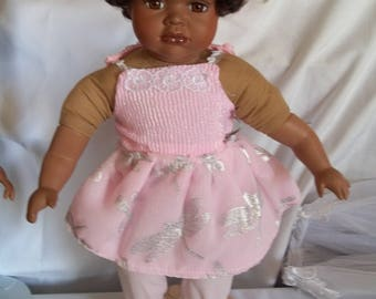 """18"""" doll Pink Dragonfly dress 314E"""