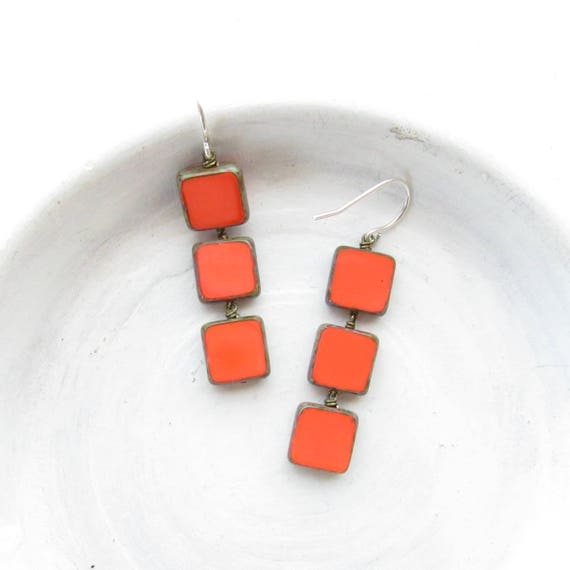 Stacked Earrings > Coral