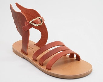 "Sandals with wings - Greek Leather sandals-gladiator sandals ""Hermes"""
