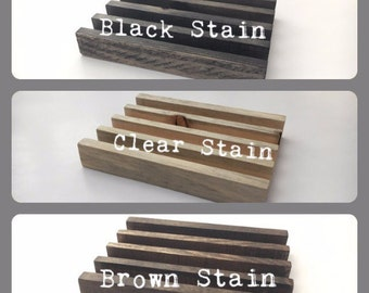 Coaster Stand Brown | Black | Blue | Gray | Clear | White Washed | Navy | Charcoal Stained Wooden Coaster Holder Coaster Holder
