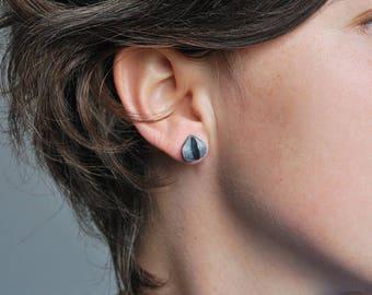 """Seed"" studs Silver earrings"