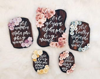 Calligraphy wood plaques