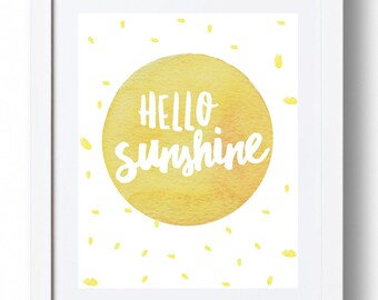 Hello Sunshine Print - *INSTANT DOWNLOAD*