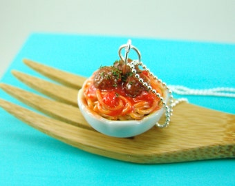 Food Necklace // Spaghetti Necklace Food Jewelry // MADE TO ORDER