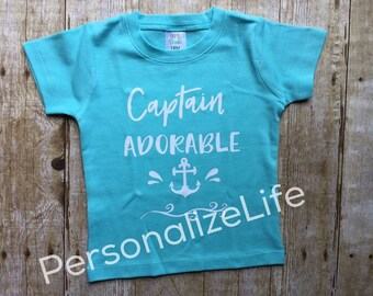 Captian Adorable shirt,Summer Shirt, Boating shirt