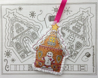 Gingerbread Christmas decoration, sewing pattern.